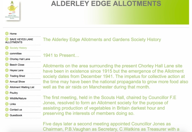 Click for Alderley Edge Allotments Society website