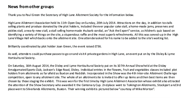 High Lane Open Day July 2014 Click for full article
