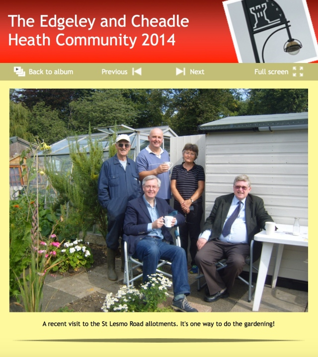 Local Councillors visit St Lesmo Road Allotments