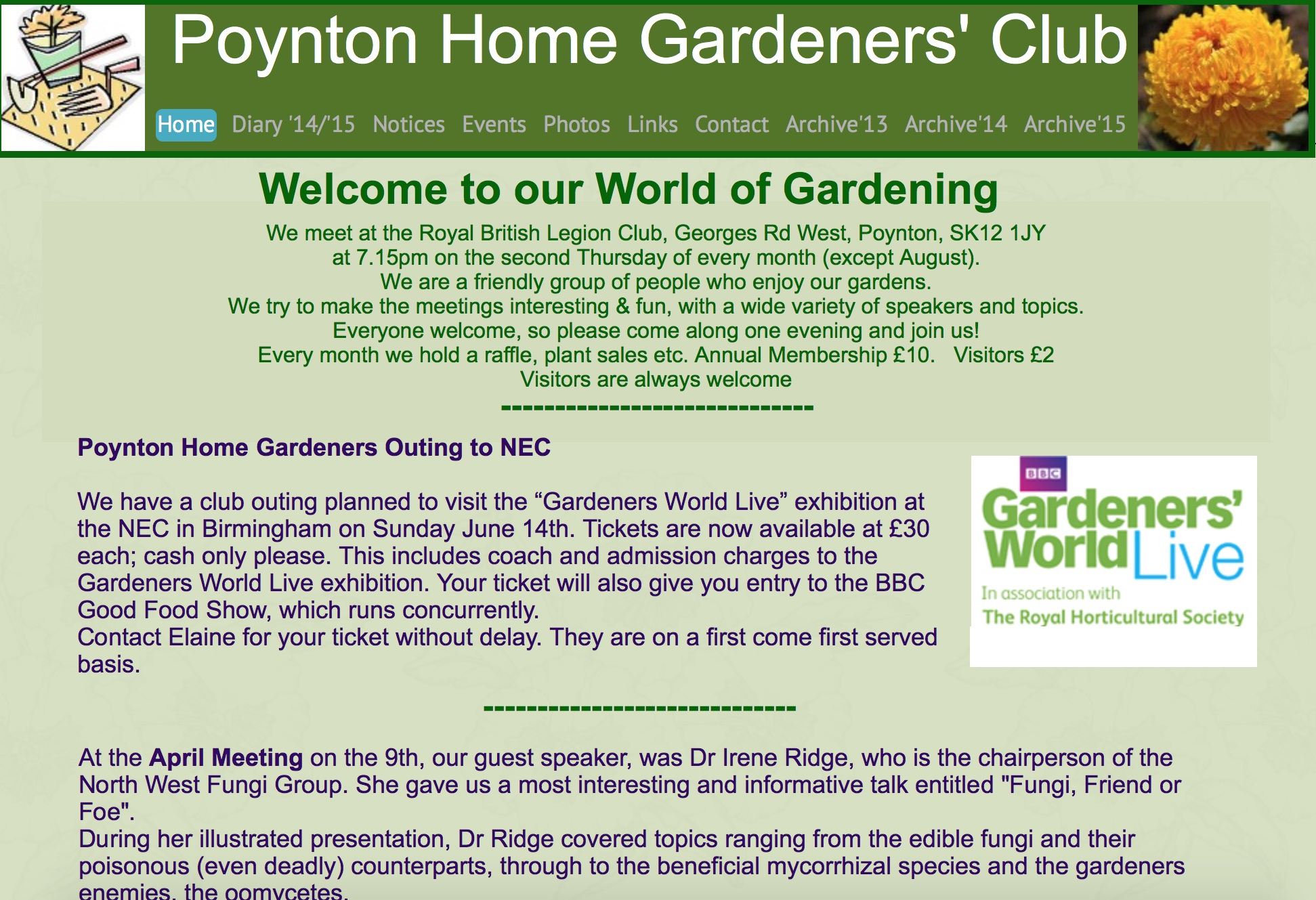 poynton home gardeners club click image for more details - Home Gardening Club