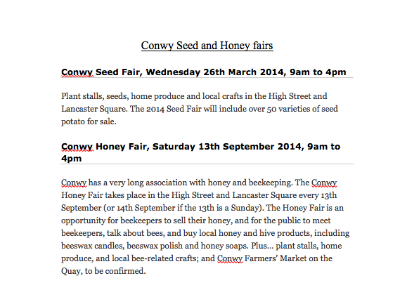 Conwy Seed and Honey FairScreenshot 2014-02-21 21.25.17
