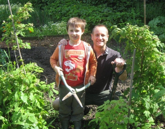 Photo used in the first Allotments Stockport leaflet in 2014