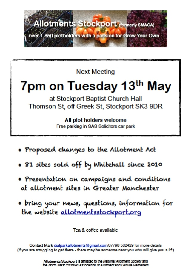 Agenda Allotments Stockport Meeting 13th May 2014