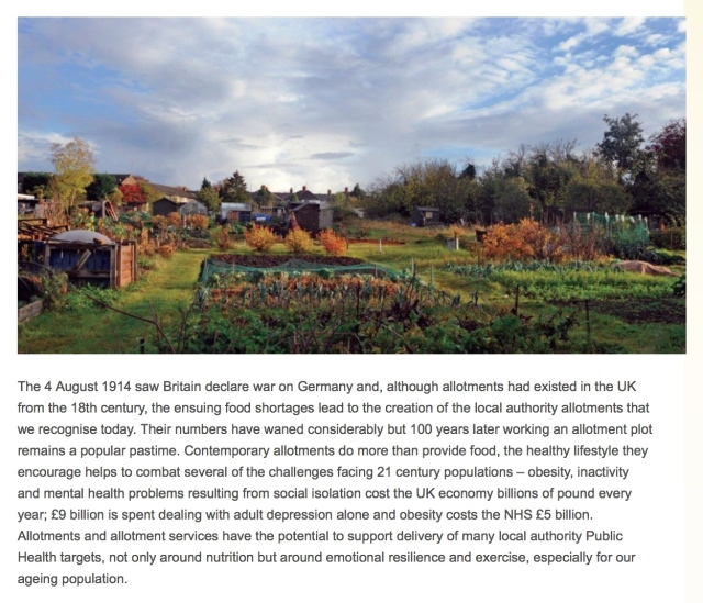 Click the photo for the whole article from National Allotment Society